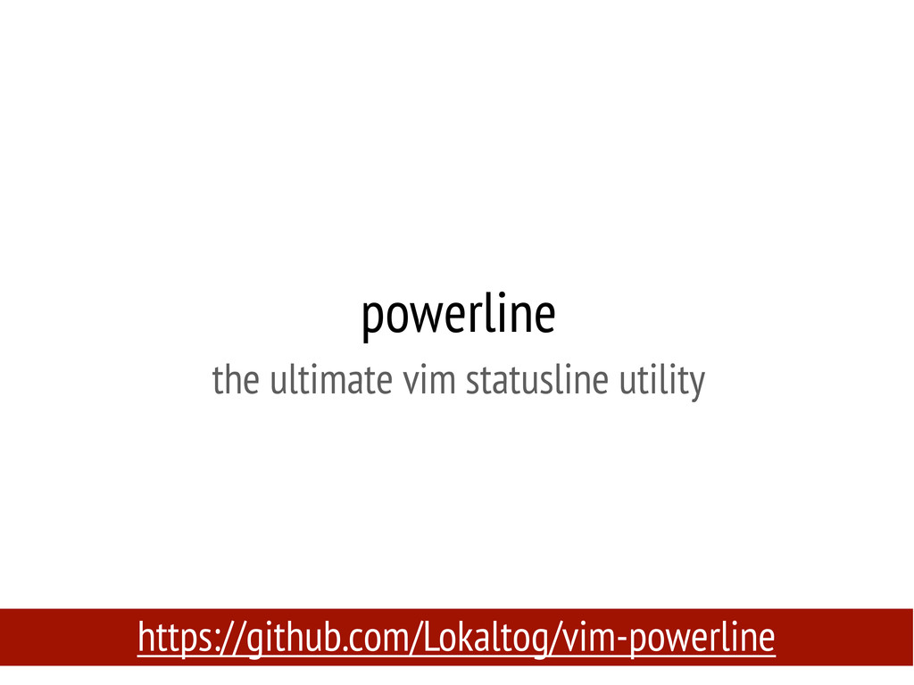 powerline the ultimate vim statusline utility h...
