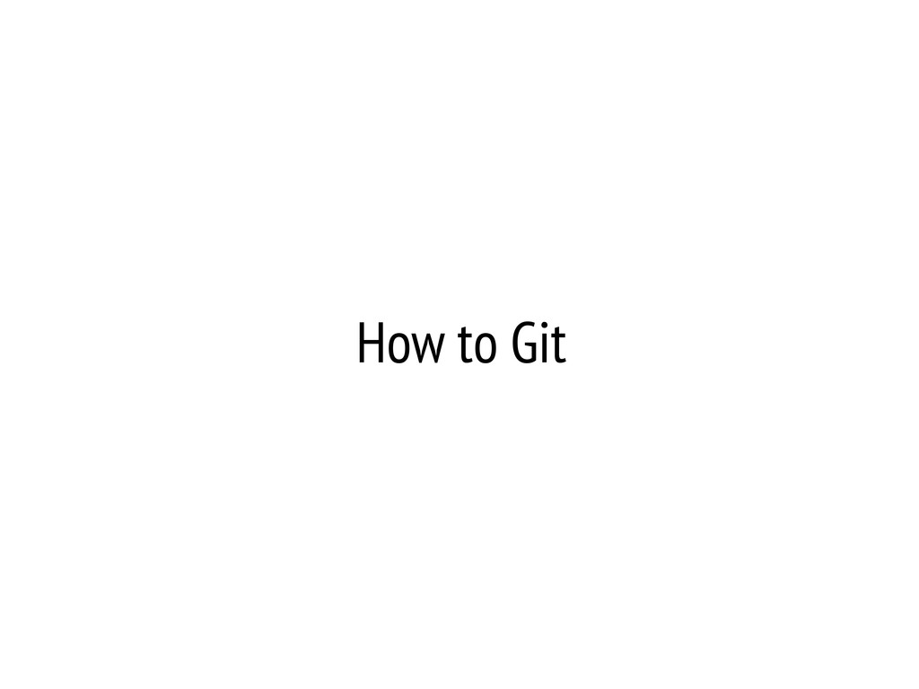 How to Git