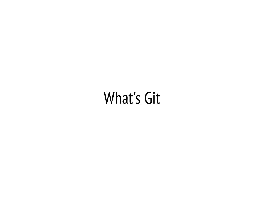 What's Git