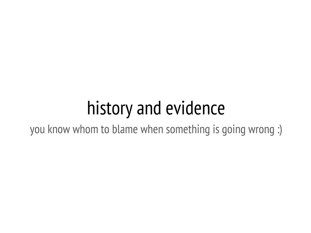 history and evidence you know whom to blame whe...
