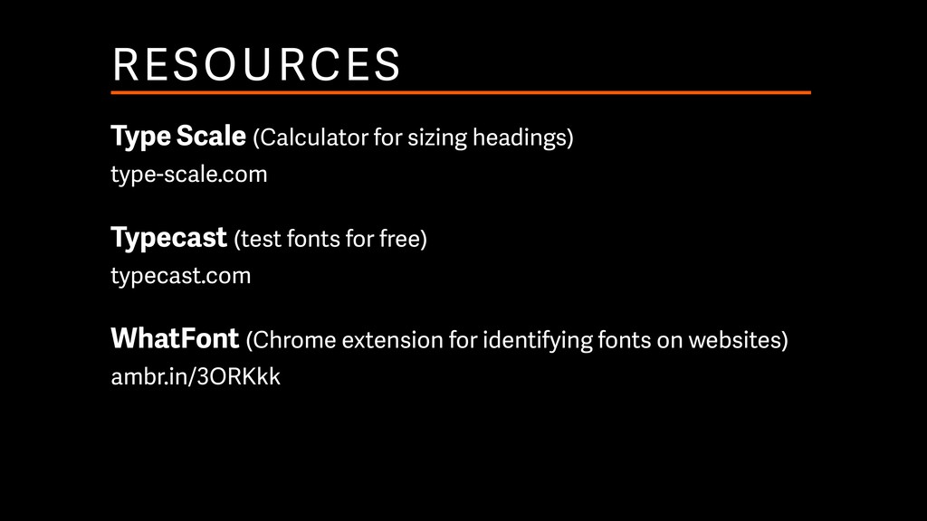 RESOURCES Type Scale (Calculator for sizing hea...