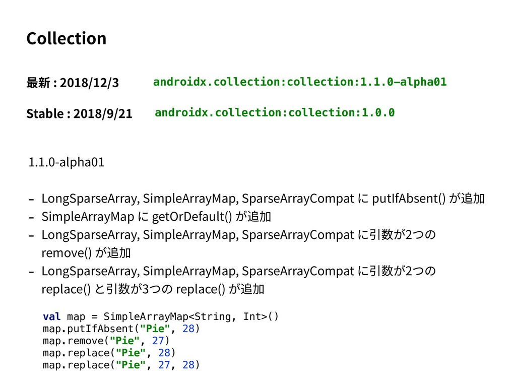 androidx.collection:collection:1.1.0-alpha01 Co...