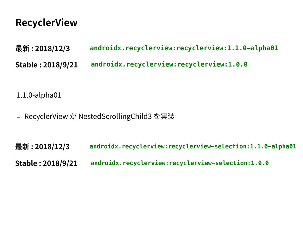 androidx.recyclerview:recyclerview:1.1.0-alpha0...