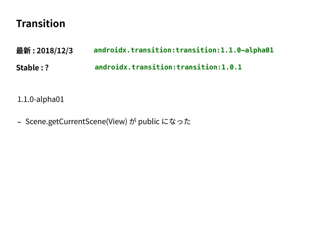 androidx.transition:transition:1.1.0-alpha01 Tr...