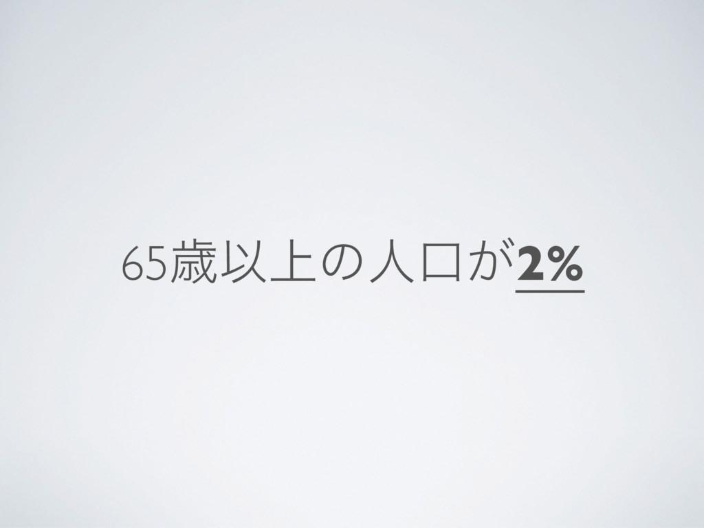 65ࡀҎ্ͷਓޱ͕2%