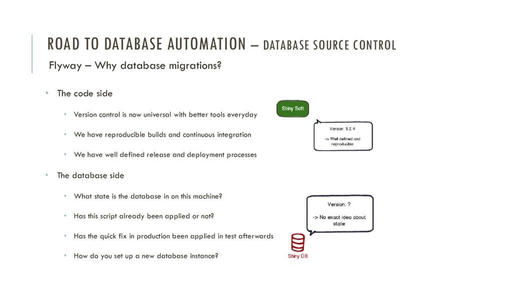 ROAD TO DATABASE AUTOMATION – DATABASE SOURCE C...