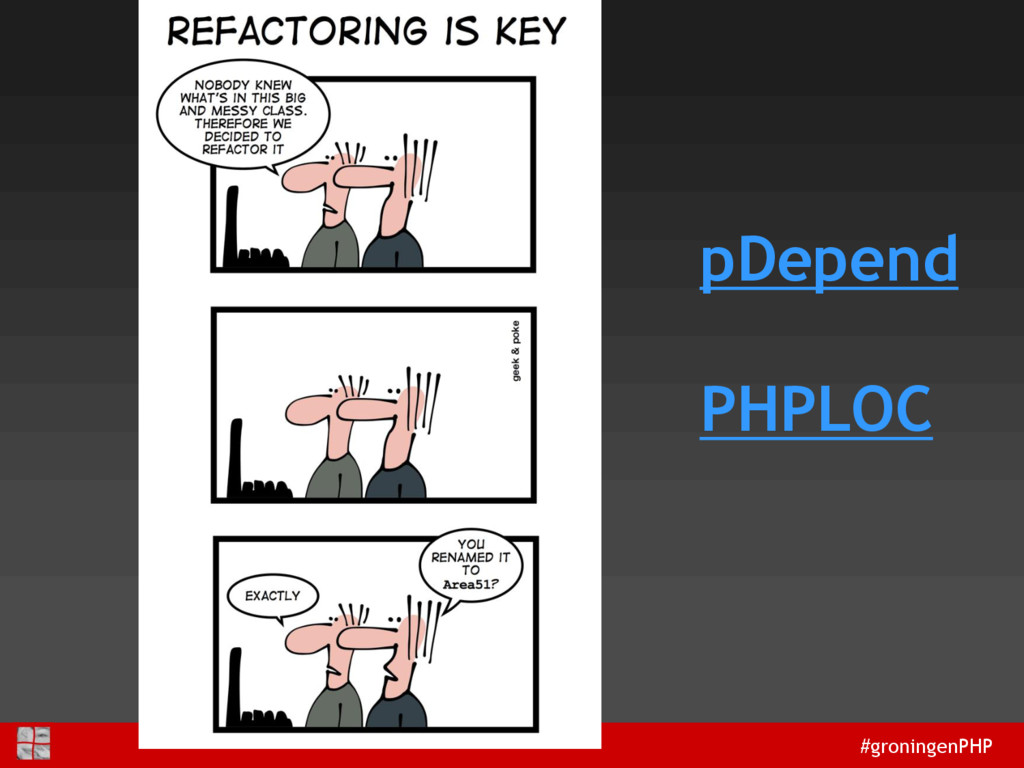 #groningenPHP pDepend PHPLOC