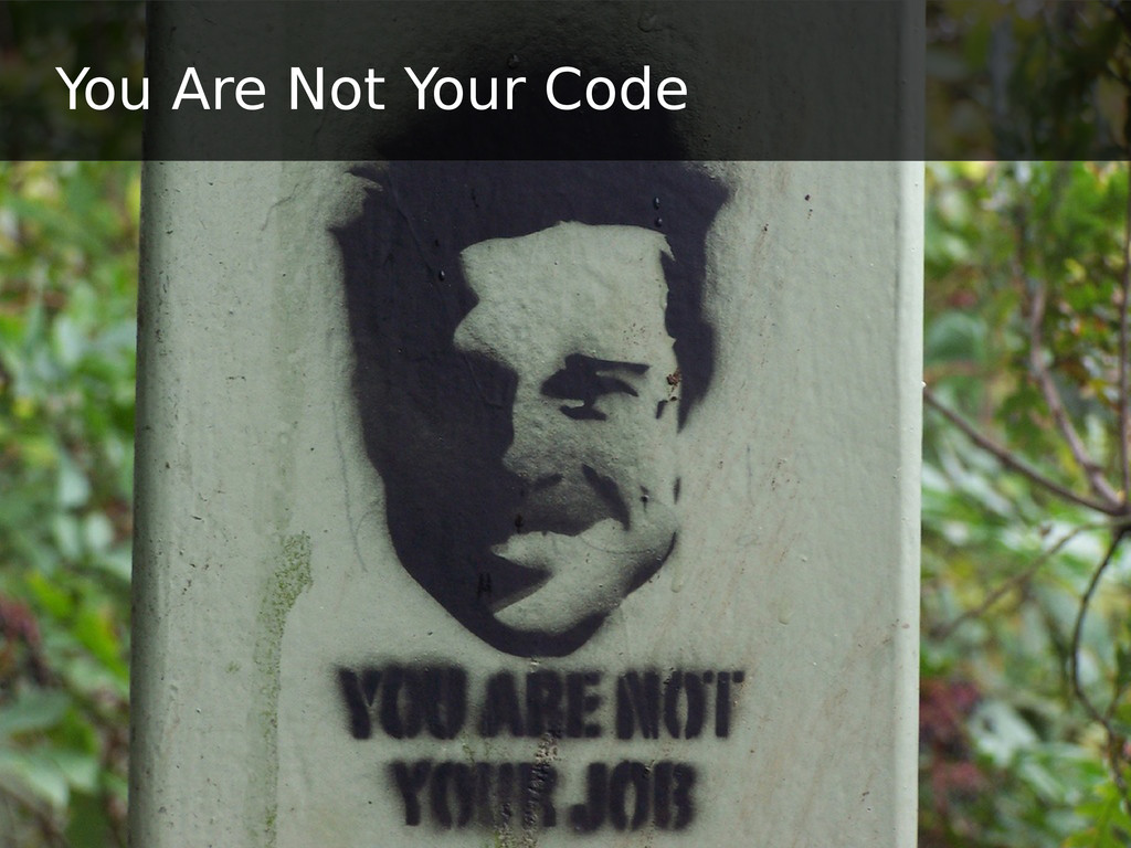 You Are Not Your Code