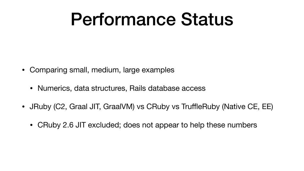 Performance Status • Comparing small, medium, l...