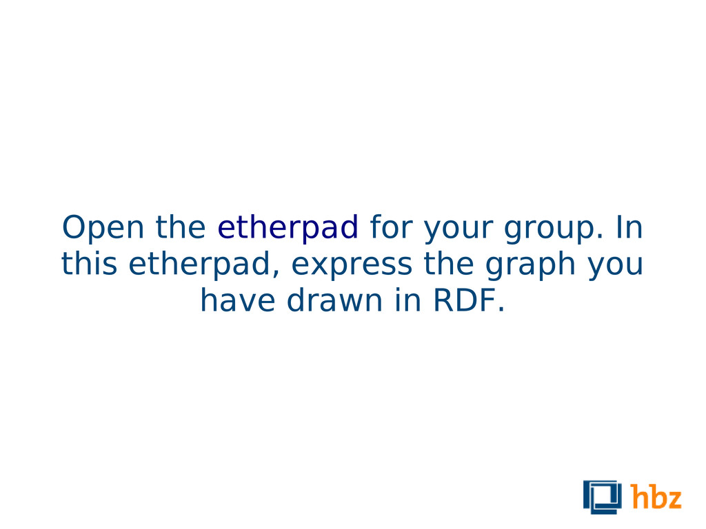 Open the etherpad for your group. In this ether...