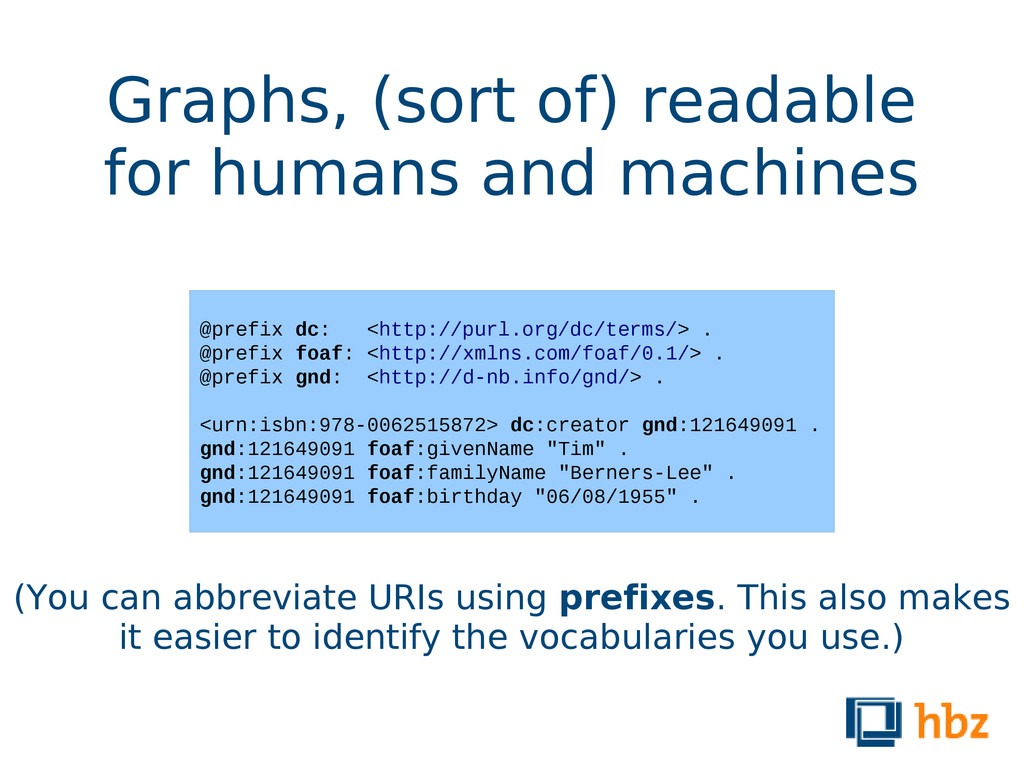 Graphs, (sort of) readable for humans and machi...