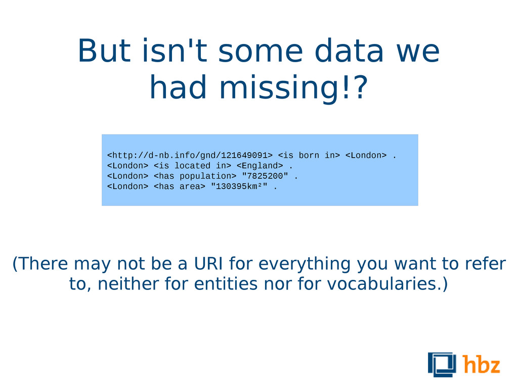 But isn't some data we had missing!? (There may...