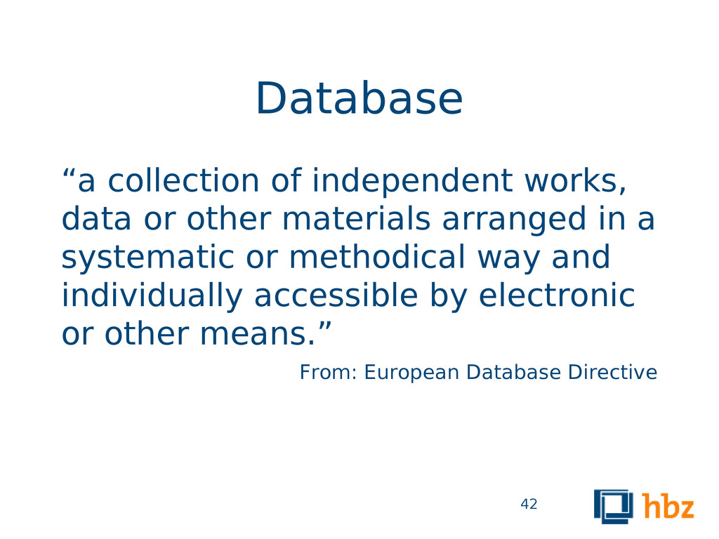 """Database """"a collection of independent works, da..."""