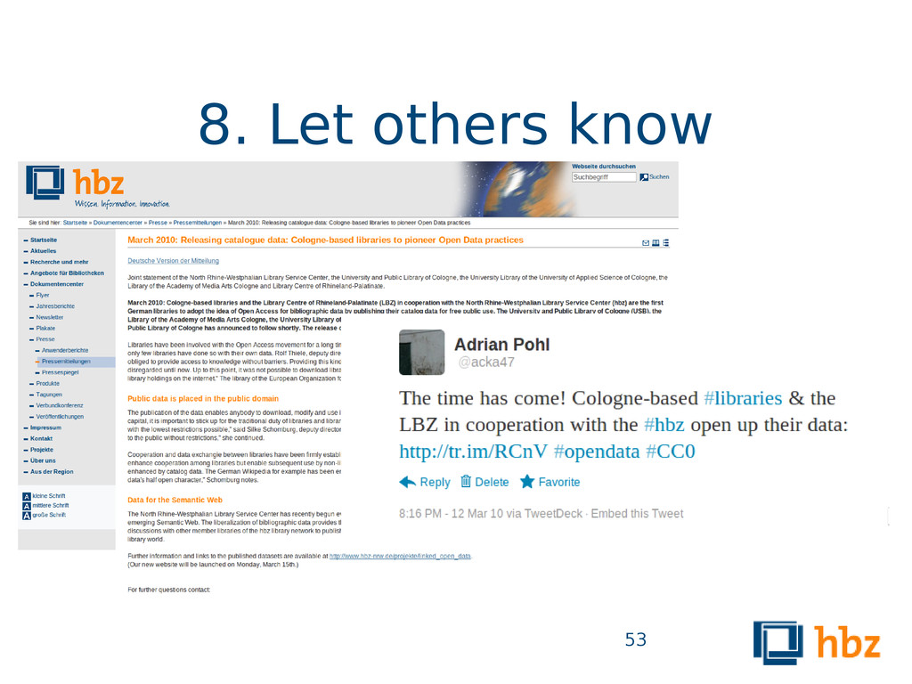 8. Let others know 53
