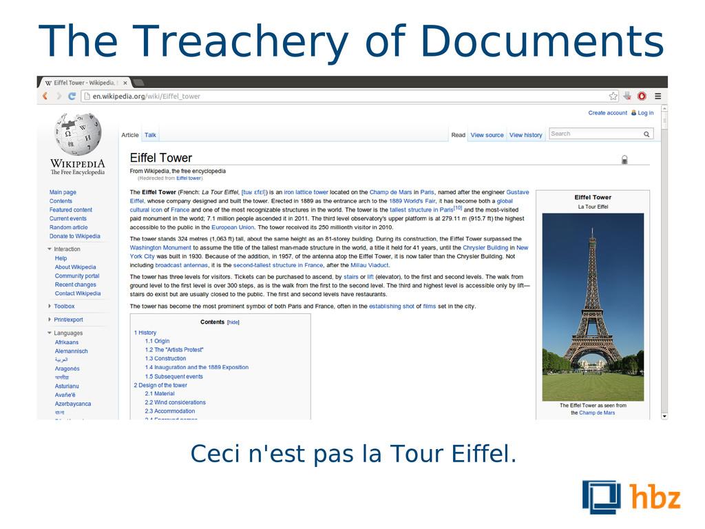 The Treachery of Documents Ceci n'est pas la To...