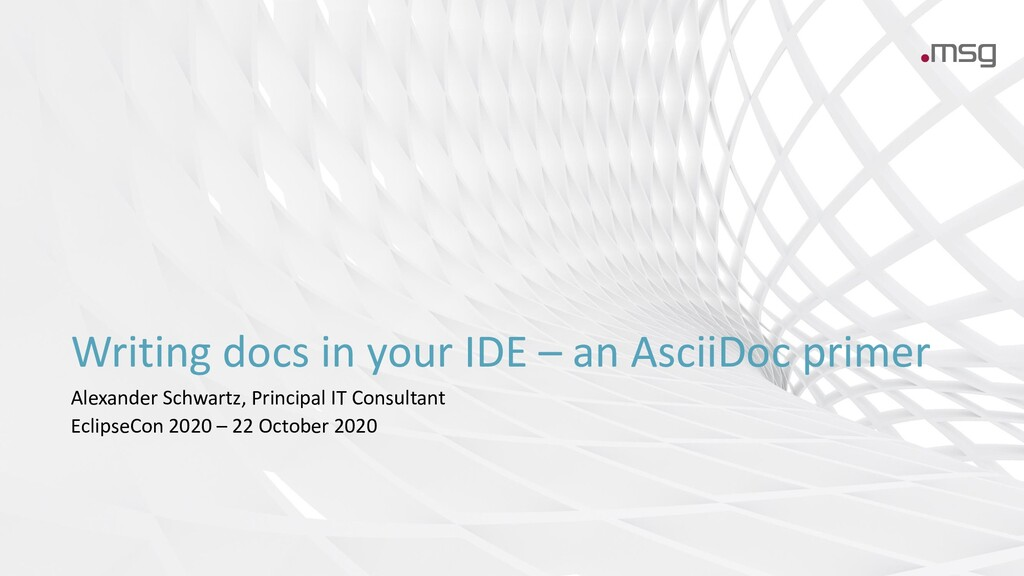 Writing docs in your IDE – an AsciiDoc primer A...