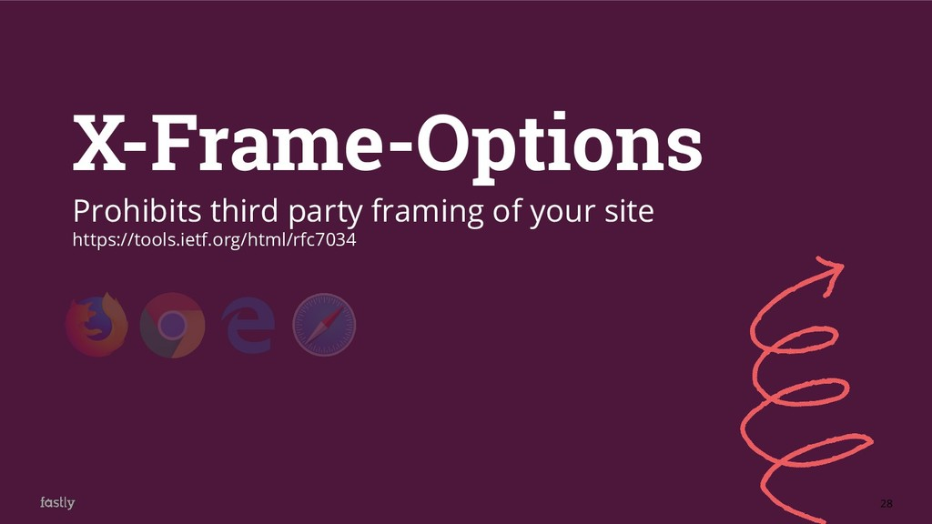 28 X-Frame-Options Prohibits third party framin...