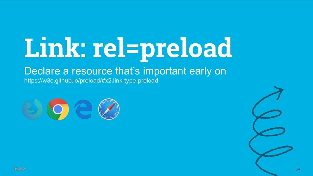 64 Link: rel=preload Declare a resource that's ...
