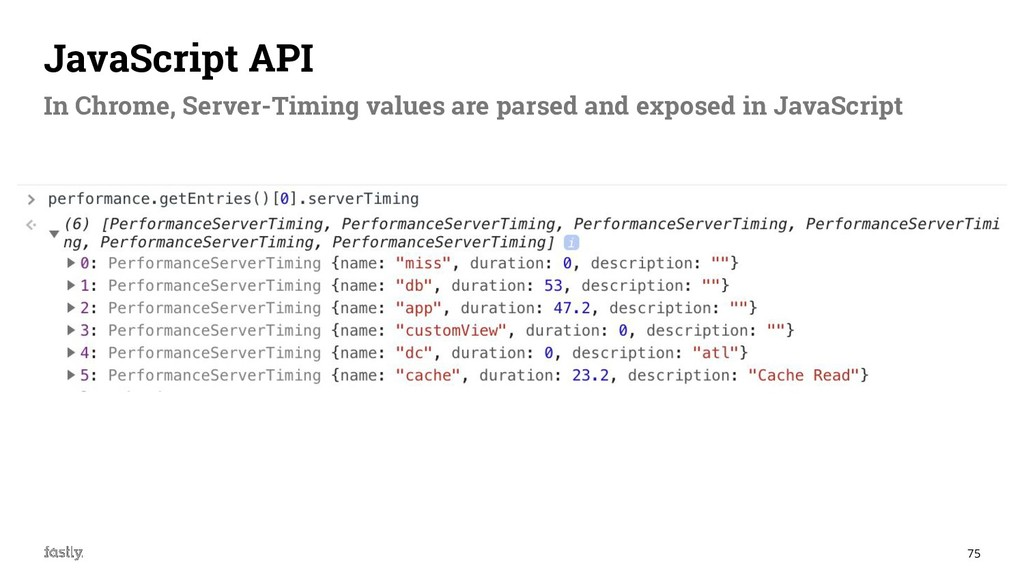 75 JavaScript API In Chrome, Server-Timing valu...