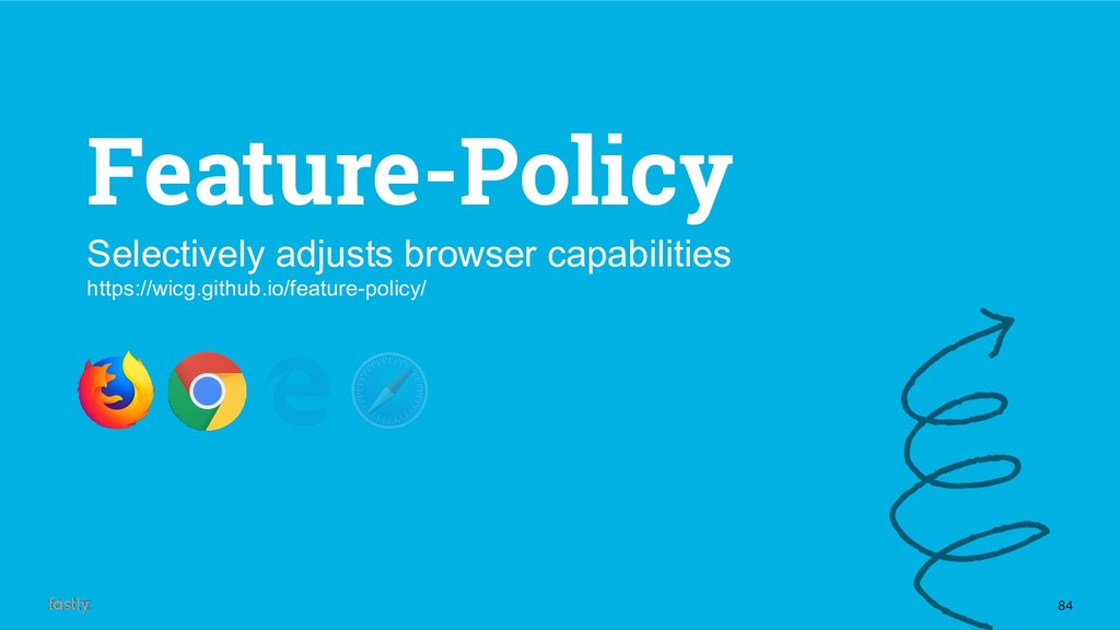 84 Feature-Policy Selectively adjusts browser c...
