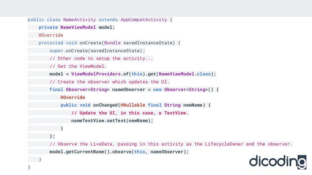 public class NameActivity extends AppCompatActi...