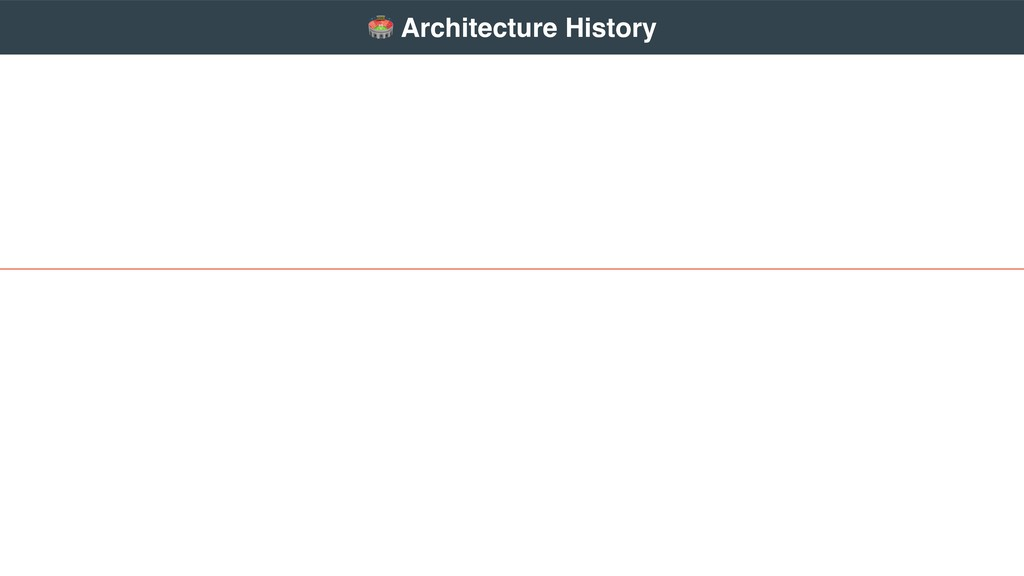 """ Architecture History"