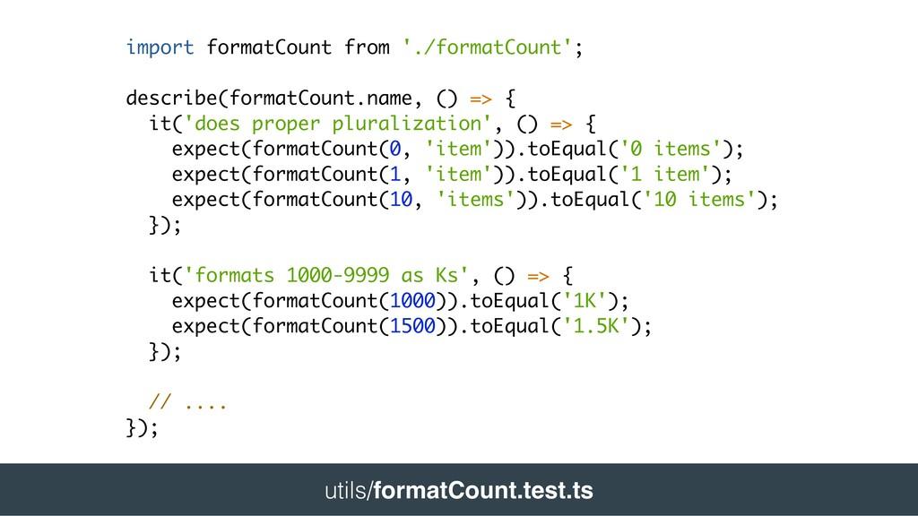 import formatCount from './formatCount'; descri...