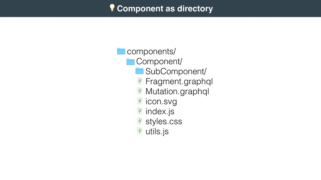 + Component as directory 