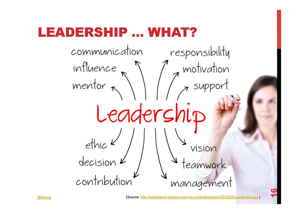 @devpg LEADERSHIP ... WHAT? 16 [Source: http://...