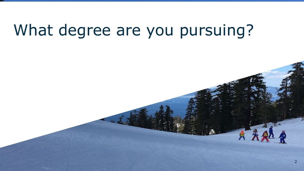 What degree are you pursuing? 2