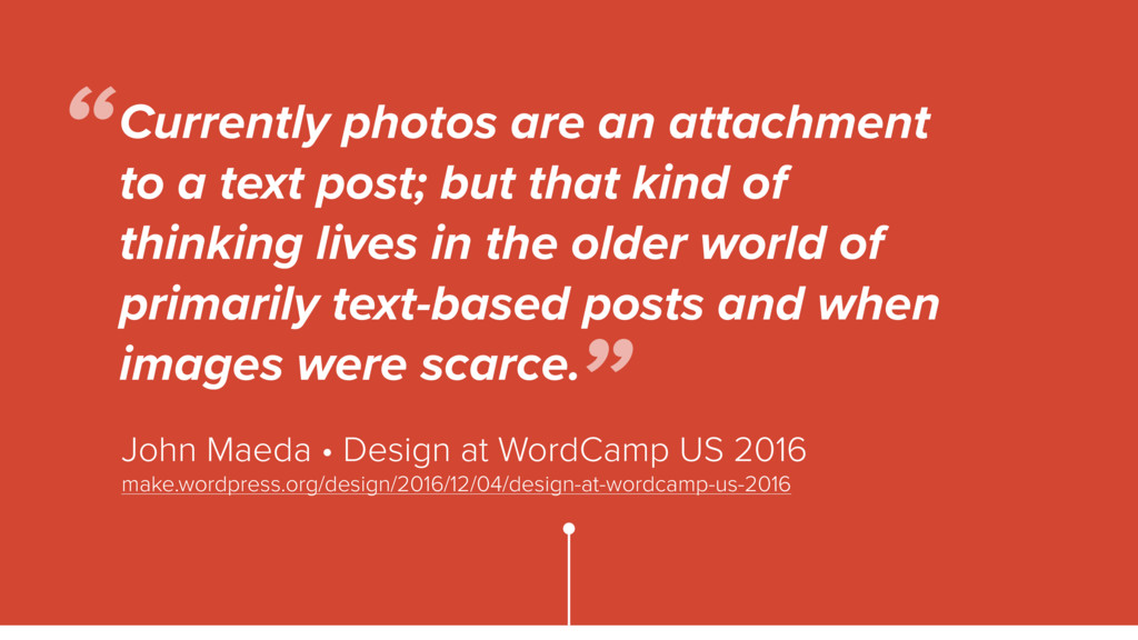 Currently photos are an attachment to a text po...