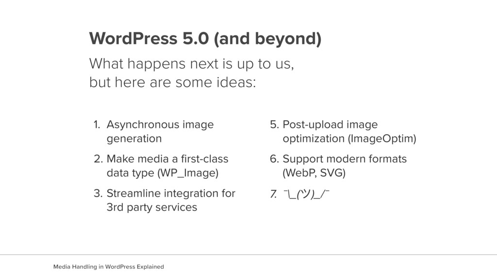 WordPress 5.0 (and beyond) What happens next is...