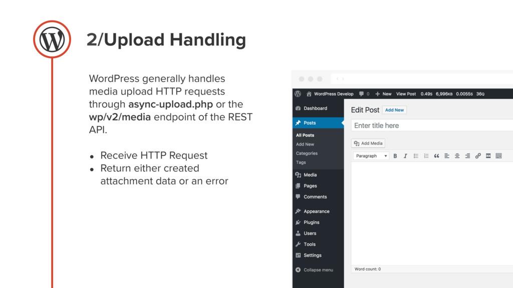 2/Upload Handling WordPress generally handles m...
