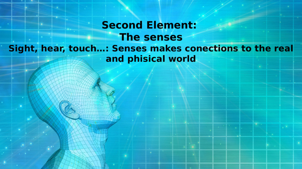 Second Element: The senses Sight, hear, touch…:...