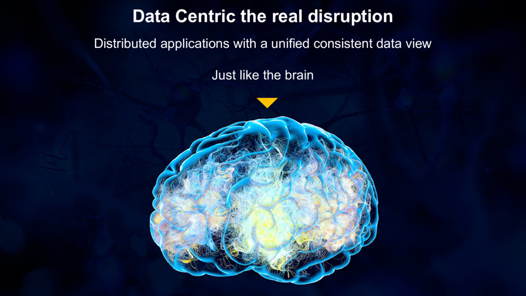 Data Centric the real disruption Distributed ap...