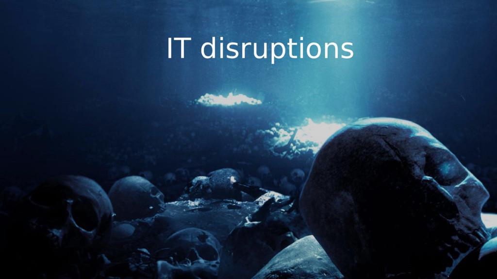 IT disruptions