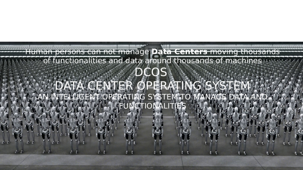 3rd DISRUPTION SMART DATA CENTERS Human persons...