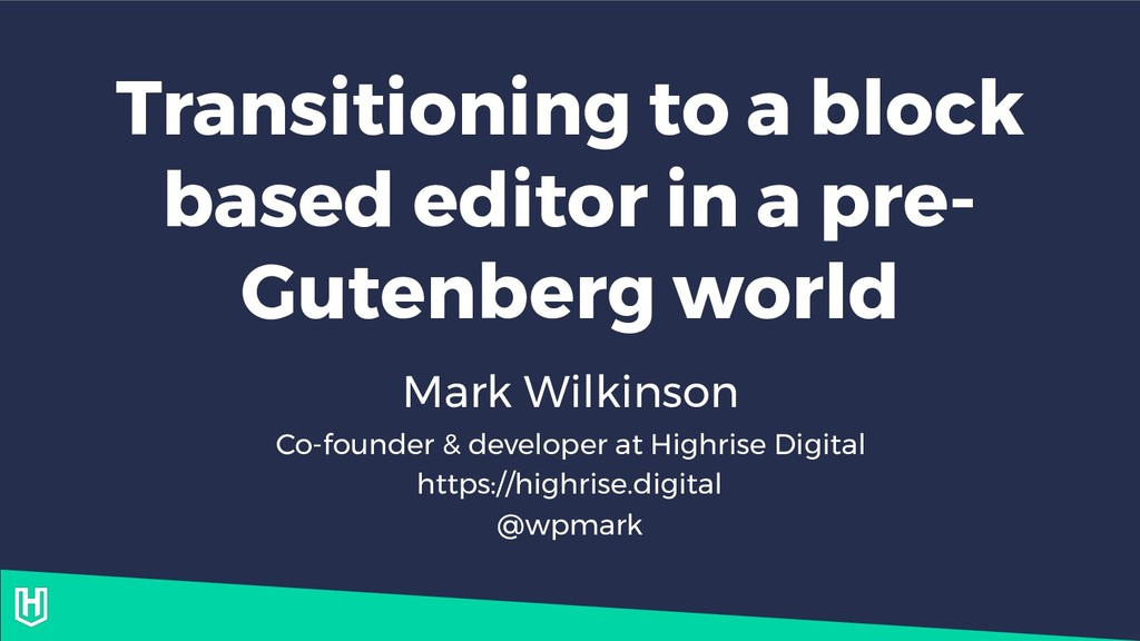 Transitioning to a block based editor in a pre-...