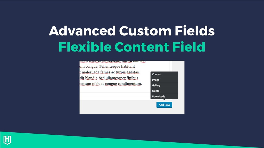 Advanced Custom Fields Flexible Content Field