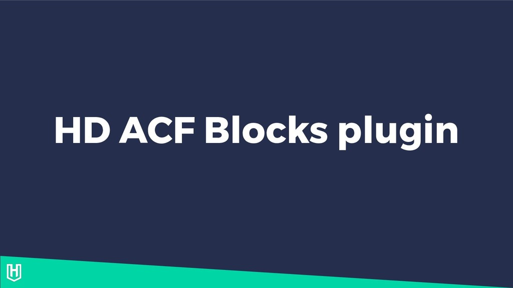 HD ACF Blocks plugin