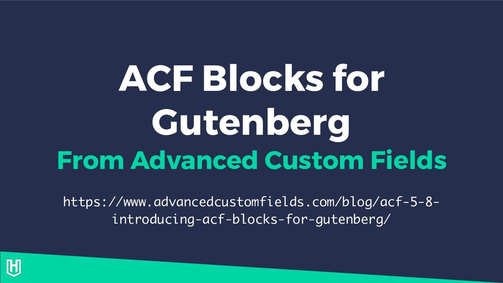 ACF Blocks for Gutenberg From Advanced Custom F...