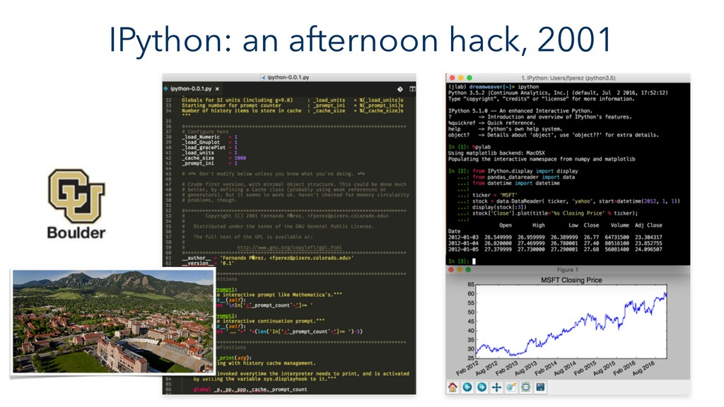 IPython: an afternoon hack, 2001