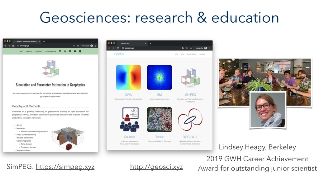 Geosciences: research & education Lindsey Heagy...