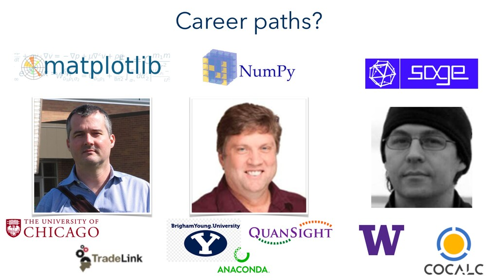 Career paths?