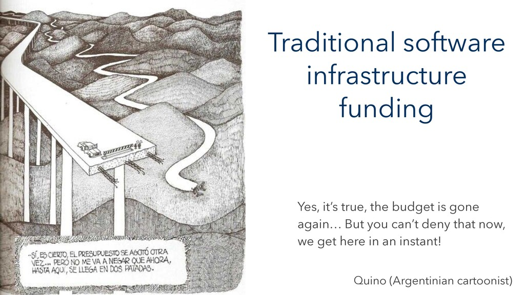 Traditional software infrastructure funding Yes...