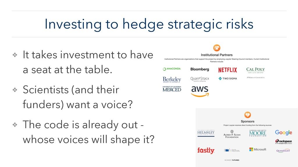 Investing to hedge strategic risks ❖ It takes i...