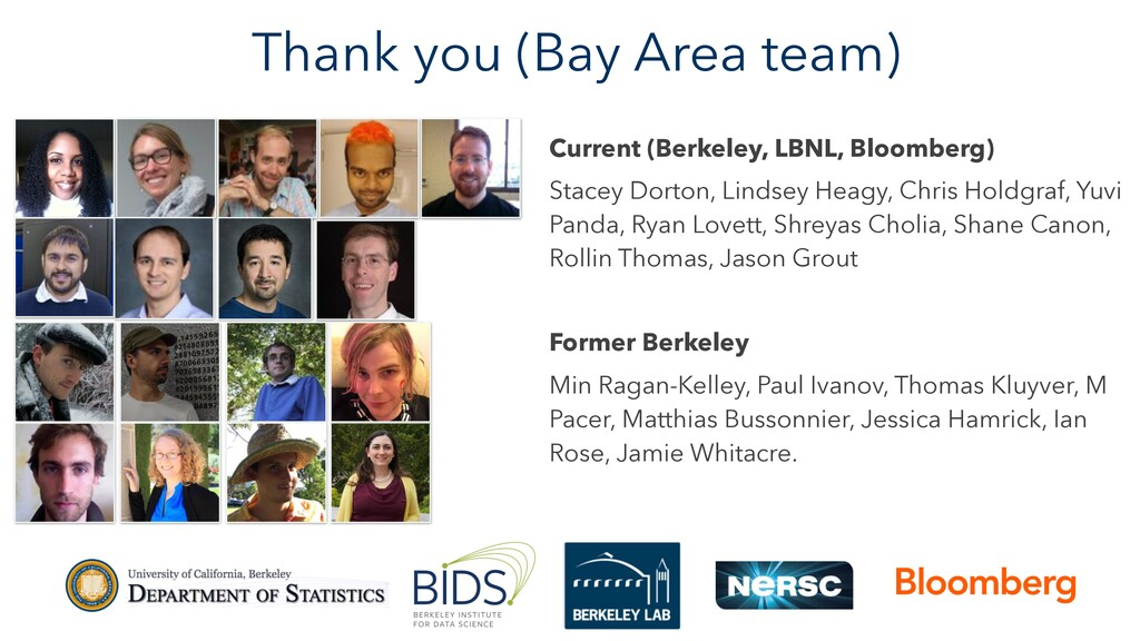 Thank you (Bay Area team) Current (Berkeley, LB...