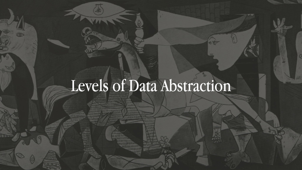 Levels of Data Abstraction