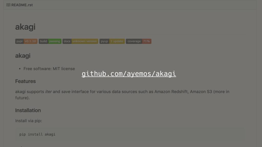 github.com/ayemos/akagi
