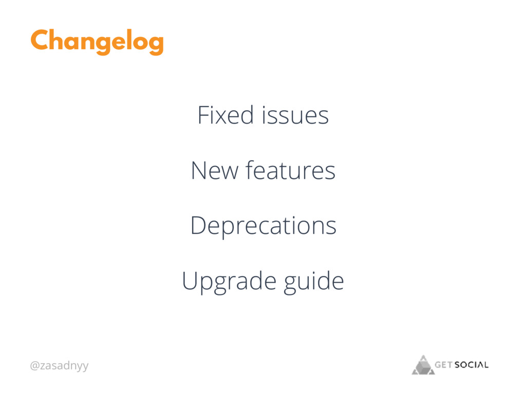 @zasadnyy Changelog Fixed issues New features D...